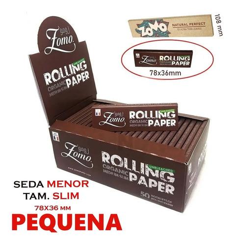 Caixa Seda Zomo Organic Brown 1/4  Medium Size Com 50 Barato