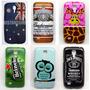 Capa Case Galaxy S4 Mini I9192 9190 Temas + Pelicula Vidro