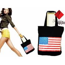 Bolsa Tecido Bandeira Eua Presente Dia Dos Namorados Barato.
