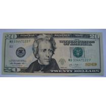 Cédula Nota Vinte (20) Dólares Americanos Fe Pague Até 12 X