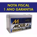 Bateria Moura Vrla Selada 12v 7ah Alarme  No-break. Com Nf