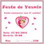 Convite Para Festa (aniversário E Chá De Bebê) 50 Unidades