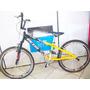 Bicicleta Ecos Alumínio Aro 24 Preta/amarelo C/ Suspensão