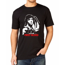 Camiseta Rambo First Blood Stallone Filme Cult Camisa