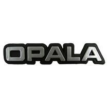 Emblema Opala Chevrolet Preto Com Cromado Modelo Antigo