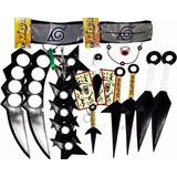 Kit Ninja Kunai Naruto Anel Colar Shuriken Bandana Itachi Kg