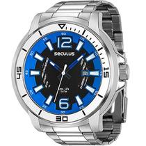 Relógio Seculus Masculino Long Life 23500g0svna1