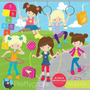 Kit Digital Imagens Png Meninas Brincando Esporte Clipart