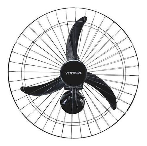 Ventilador De Parede Ventisol New Comercial Preto, 50cm De Diâmetro 127v