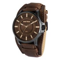Relógio Mormaii Masculino Pulseira De Couro Mo2035aw/3c