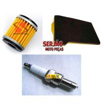 Kit Filtro Ar Óleo Vela Iridium Fazer250 Tenere250 Lander250