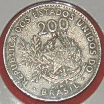 Moeda Antiga 200 Reis 1901, Algarismo Romano, Mcmi