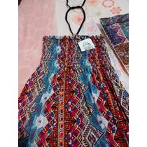 Lindo Vestido Longo, Estampa Étnica, Moderno,ótimo Preço!