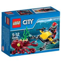 Lego City 60090 Deep Sea Speed Scooter 42 Peças 1 Boneco