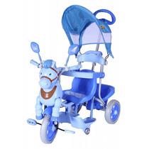 Carrinho Bebê Passeio Triciclo Capota 3 Em 1 Azul #9313