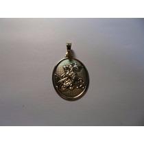 Ping São Jorge Banho Ouro Semijoia Tamanho 3,2x2,4cm