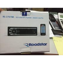 Auto Rádio Roadstar Usb/sd/aux/fm/am Rs2707 Nacional 180 Rms