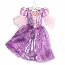 Fantasia Vestido Rapunzel Disney Store Lançamento 9/10 Anos