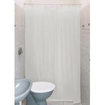 Cortina Para Banheiro Box Clean 1,80x1,40 Com Kit Instalação
