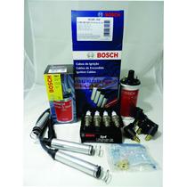 Kit Bobina + Cabo + Vela Monza Kadett Ipanem Carburado Bosch