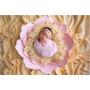 Combo Newborn, Arco, Flor Gigante,  (4 Peças) Mais Brindes