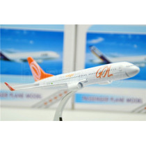 Miniatura Avião Metal Brasil Gol Airlines Boeing 737 16cm