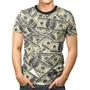 Camisa Camiseta 3d Full Dollar Money Notas Dinheiro