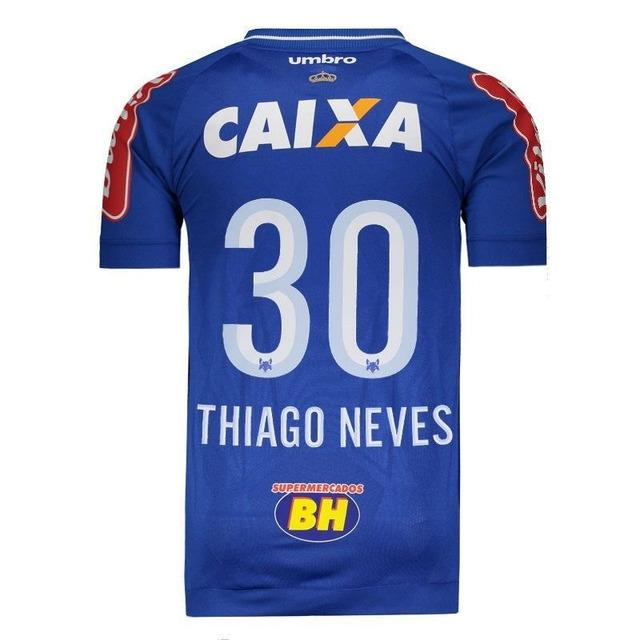 Camisa Umbro Cruzeiro I 2017 Jogador 30 Thiago Neves em Congonhas ... 9811272570876