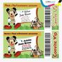 Criar Arte Final Convite Mickey Safari Mouse Tipo Ingresso