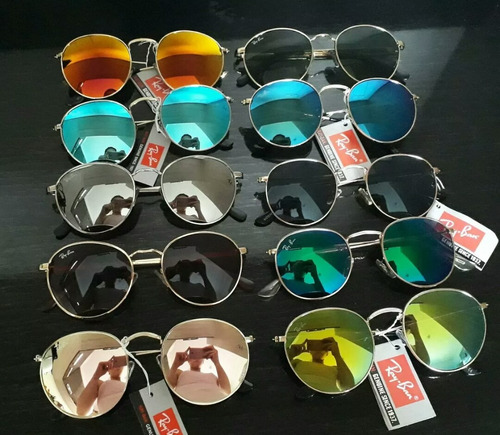 Óculos Atacado Round Revenda Kit Com 10 Acompanha Case - R  200 en ... b0f6e38592