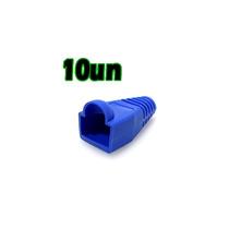 Capa P/ Conector Rj45 Azul - Pct 10 Pçs (025-0045)