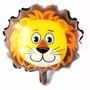 Balão Metalizado Safari Leão Para Centro De Mesa - Kit C/ 4