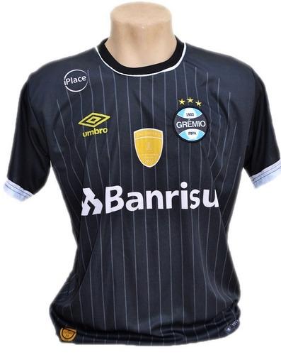 Camisa Do Grêmio Listrada Azul 2019 Bordado Barato Gaúcho 60889e951804a
