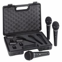 Kit Com 3 Microfones Ultravoice Behringer Xm1800s Nfe