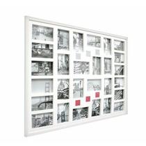 Painel Para 28 Fotos Gigante Na Cor Branca Madeira