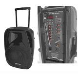 Caixa Ativa Eclapower 500w Rms Bluetooth 2 Microfone Sem Fio