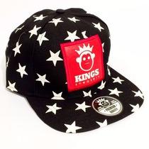 Boné Kingss Aba Reta Snapback Sneakers Stars Caveira Cores