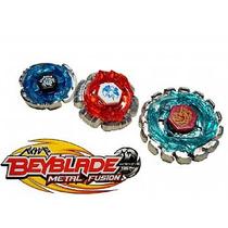 Brinquedo Kit Com 3 Beyblades + Lançador + Ripcord Bb86ab