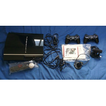 Playstation 3 + Kit Move Controles Jogos Microfone Bateria