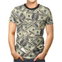 Camiseta Básica 3d Full Unissex Roupa Notas Dólar Dinheiro