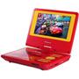 Dvd Portátil Disney Pdt-705c Cars - Vermelho