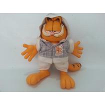 Boneco Garfield Borracha E Tecido Milk Brinquedos.
