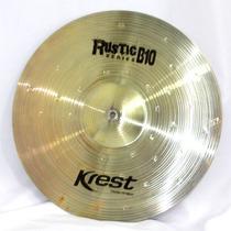 Prato Medium Crash 19 Ataque Rustic B10 Krest Cymbals Dinhos