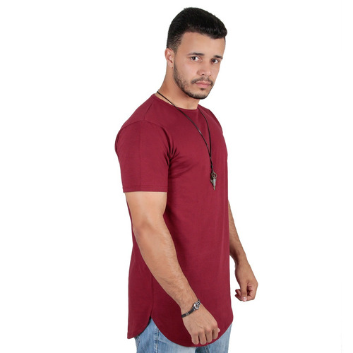 da3a3d89c6 Kit C 5 Camiseta Camisa Oversized Longline Masculina Swag