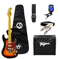 Kit Guitarra Tagima Woodstock + Acessórios - Sunburst