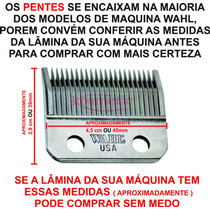 d1204e5d8 Kit 10 Pentes Guias Preto Para Máquina De Cortar Cabelo Wahl à venda ...