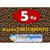 5 Kg Ração Crescimento Peixes, Tilápias Corte Carpa Kinguio