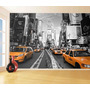Papel De Parede Turismo Viagens Nova York Táxis 9m² Ntr68