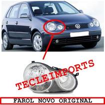 Farol Polo 2003 A 2006 Novo Original Lado Direito