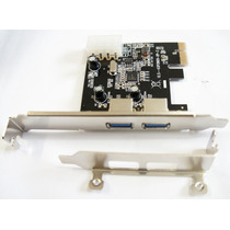 Placa Pci Express 2 Usb 3.0 Chipset D720202 Perfil Baixo !